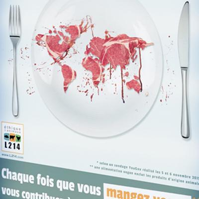 Campagne d'affichage COP21 pour L214