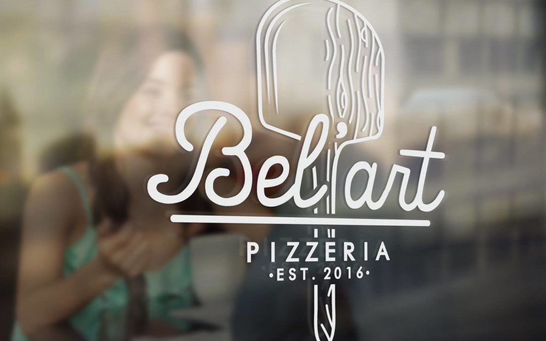 Communication Visuelle pour la pizzeria Bel'Art